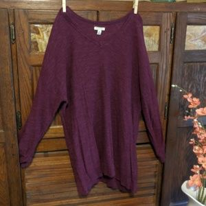 Sonoma 3/4 length sleeve maroon sweater
